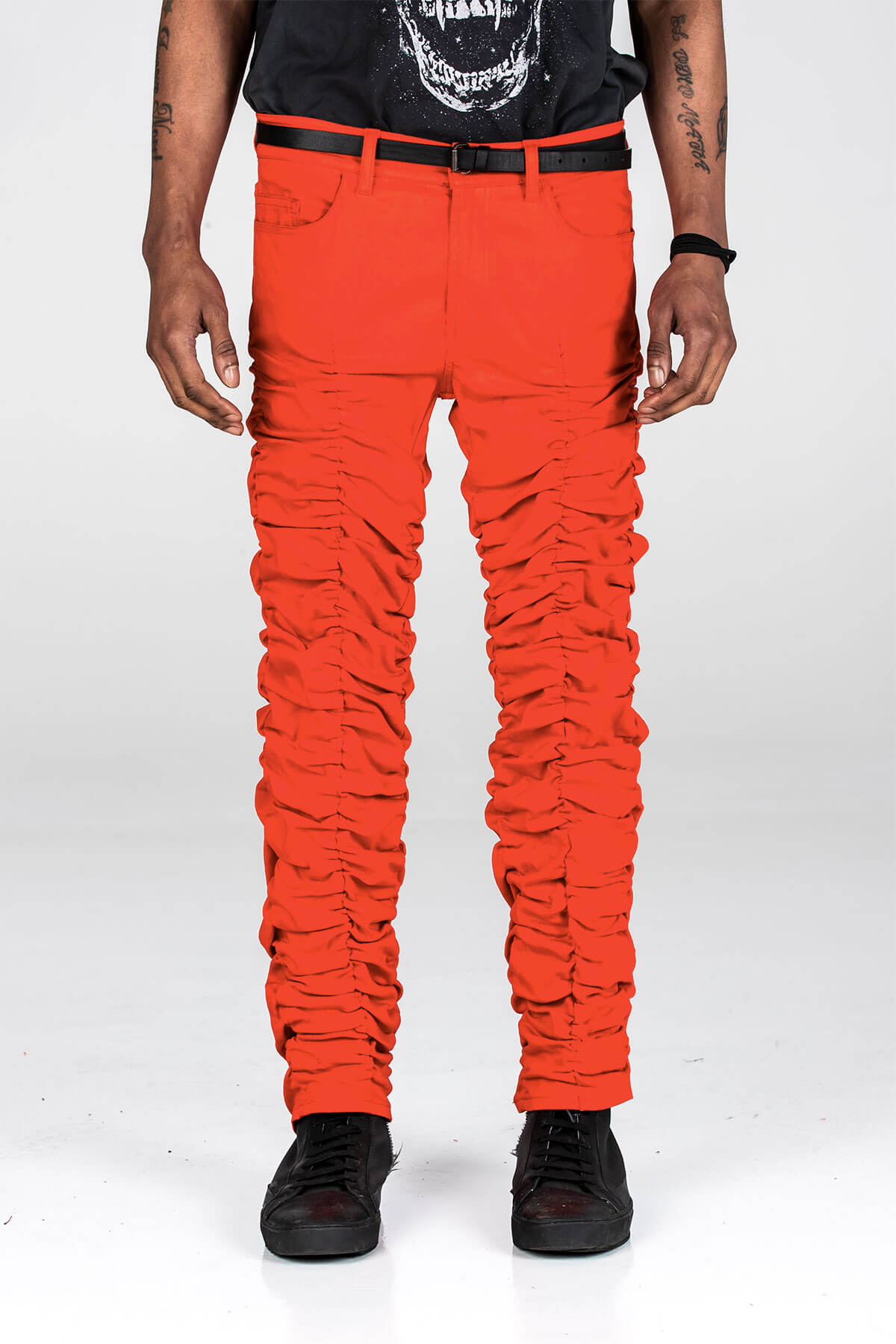 RED STACK PANTS - BOTTOM - A/W 2020 - MJB