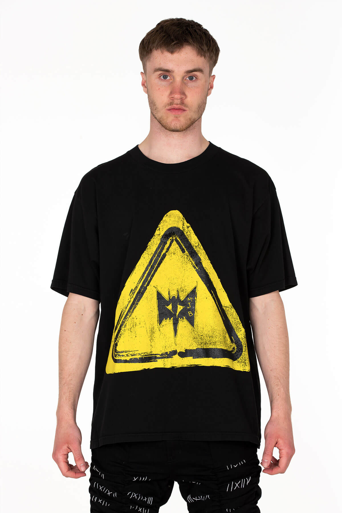 YELLOW WARNING SIGN FESTIVAL T-SHIRT - MJB