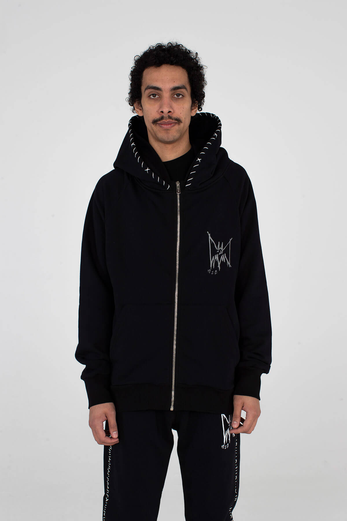 Zip Double Hoodie Reflective Bat - MJB