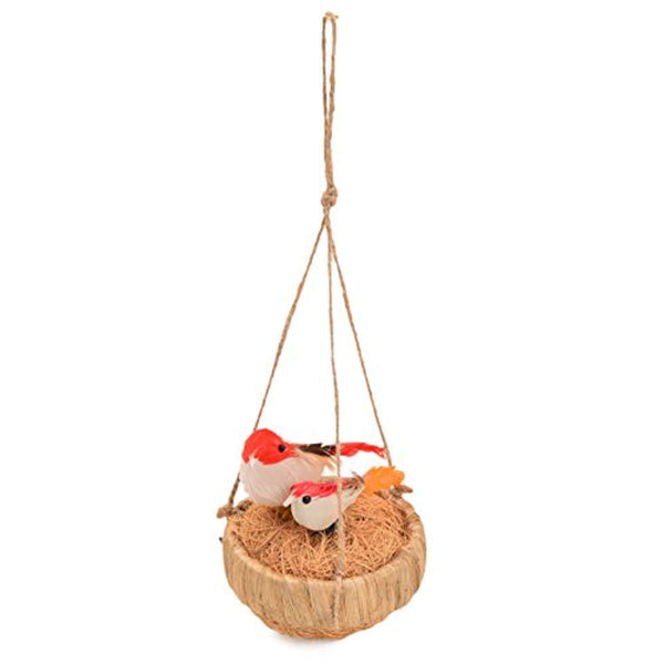 IRA Hanging Cane Decorative Jute Nest Showpiece - IRA Furniture