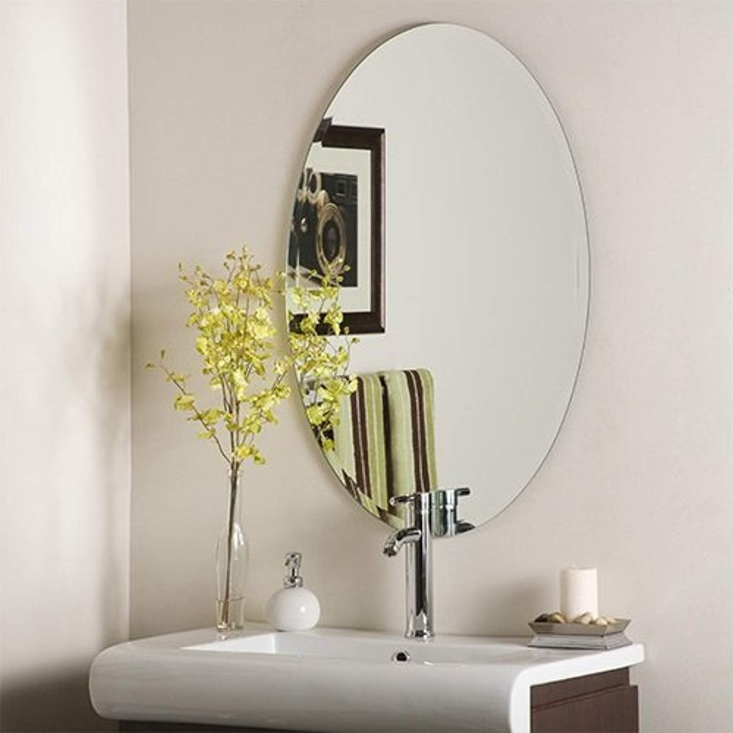 IRA Frame less Mirror- Oval Shape - IRA Furniture