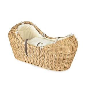 IRA Rattan & Wicker The Snug Moses Basket (Natural, 78x30cm) - IRA Furniture
