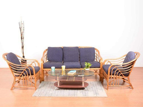 IRA Rattan Wicker 5 Seater Sofa Set (Natural Colour) - IRA Furniture