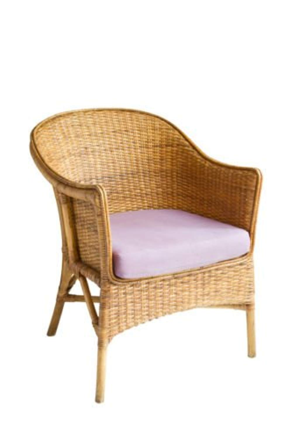 IRA Vintage Boho Peacock Lovehearts Wicker Rattan Chair (Brown) - IRA Furniture