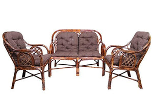 IRA Living Room 4 Seater (Rattan & Wicker,Brown) - IRA Furniture