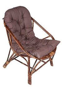 IRA Art Living Room Rattan Arm Chair with Cushion - IRA Furniture