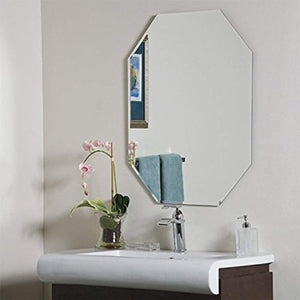 IRA Frameless Mirror,18 Inch X 24 Inch - IRA Furniture