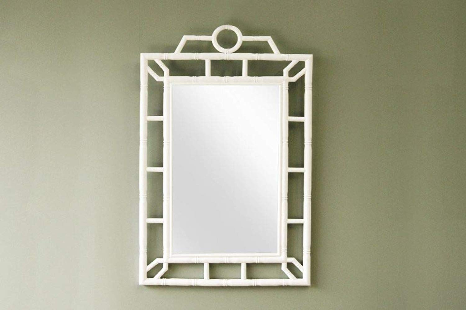 IRA White Frame Bathroom Vanity Living Room Bedroom Mirror - IRA Furniture