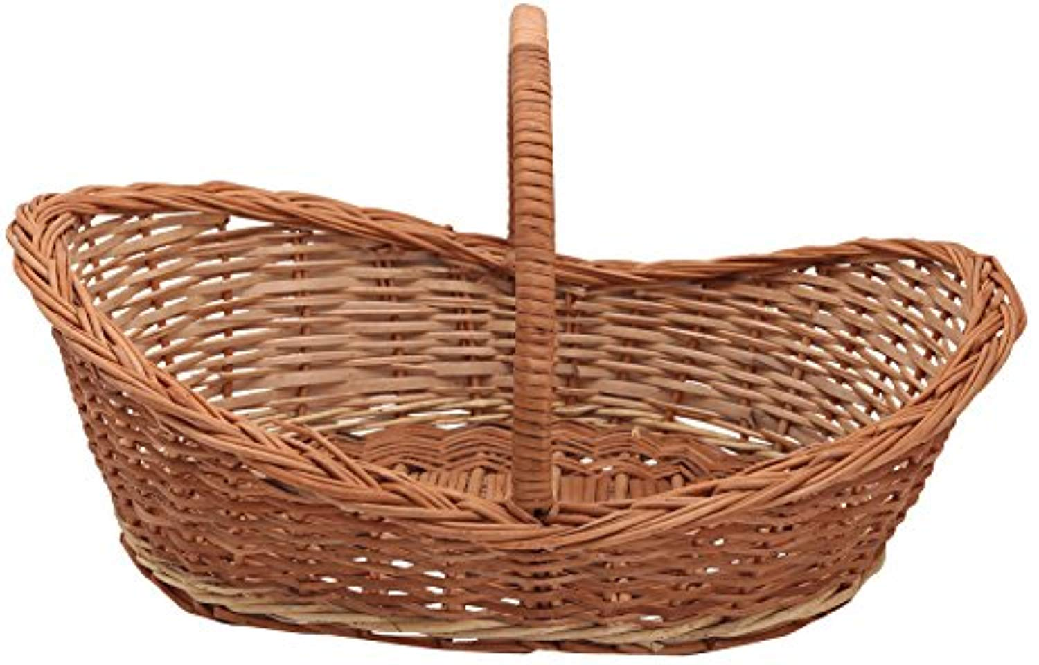 Cane Basket roti Serving Gift Multipurpose Flower Fruit Vegetable (38 cm x 38 cm x 41 cm, Brown) - IRA Furniture