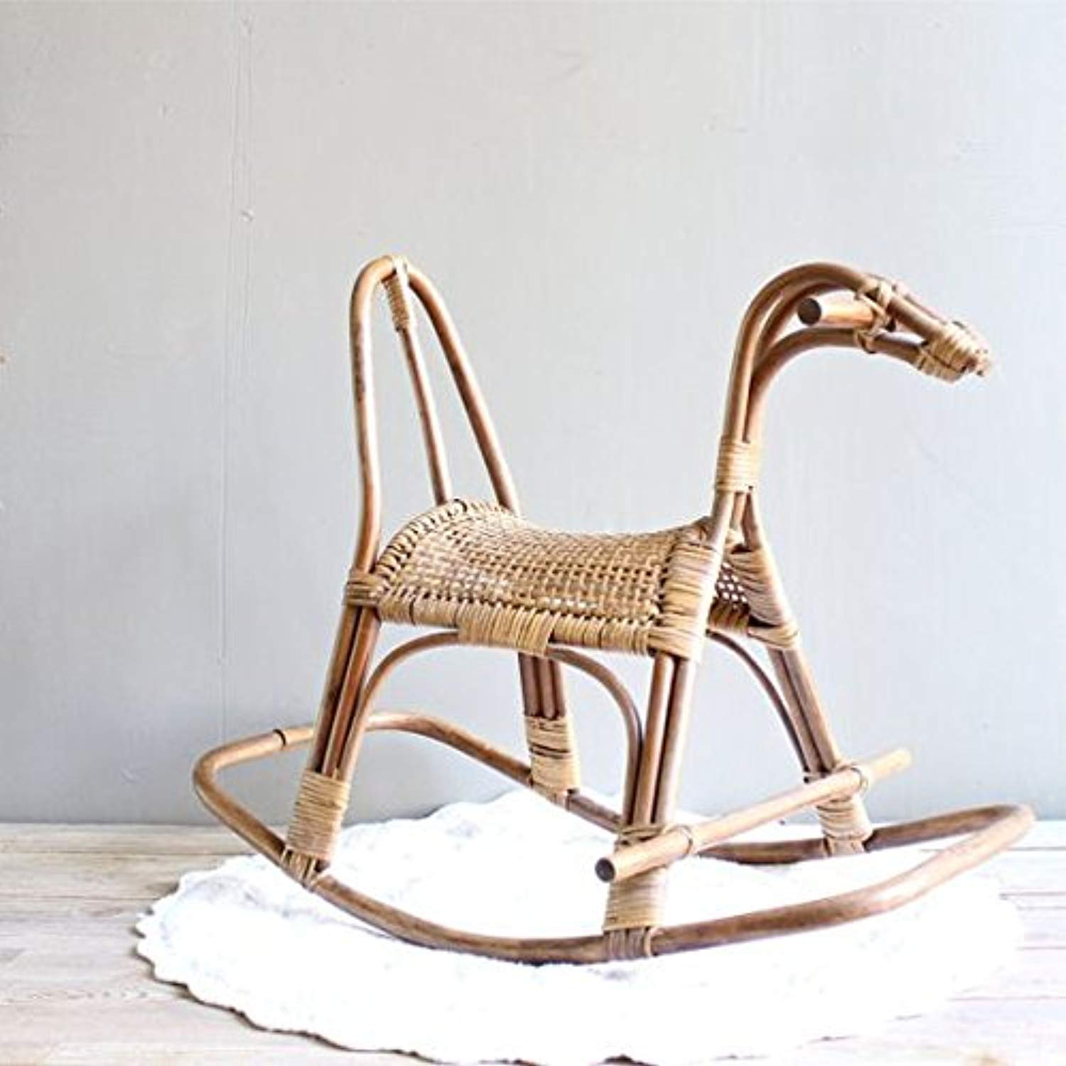 IRA Toddler's Cane Art Rattan Rocking Horse Chair - IRA Furniture