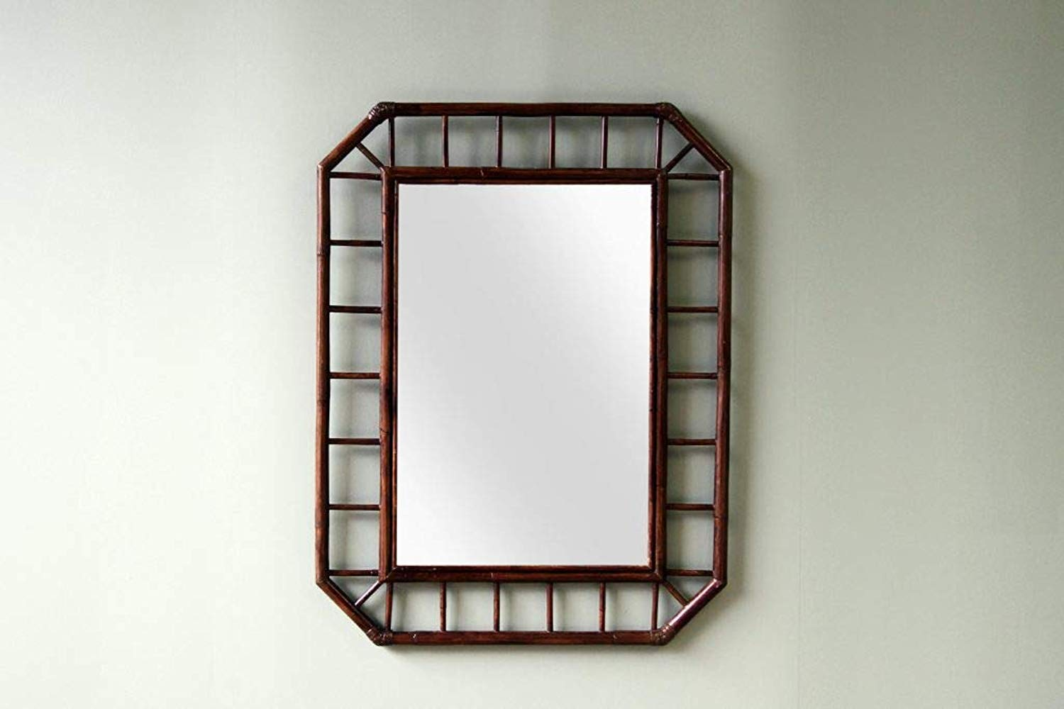 IRA Dark Brown Powder Room Mirror - IRA Furniture