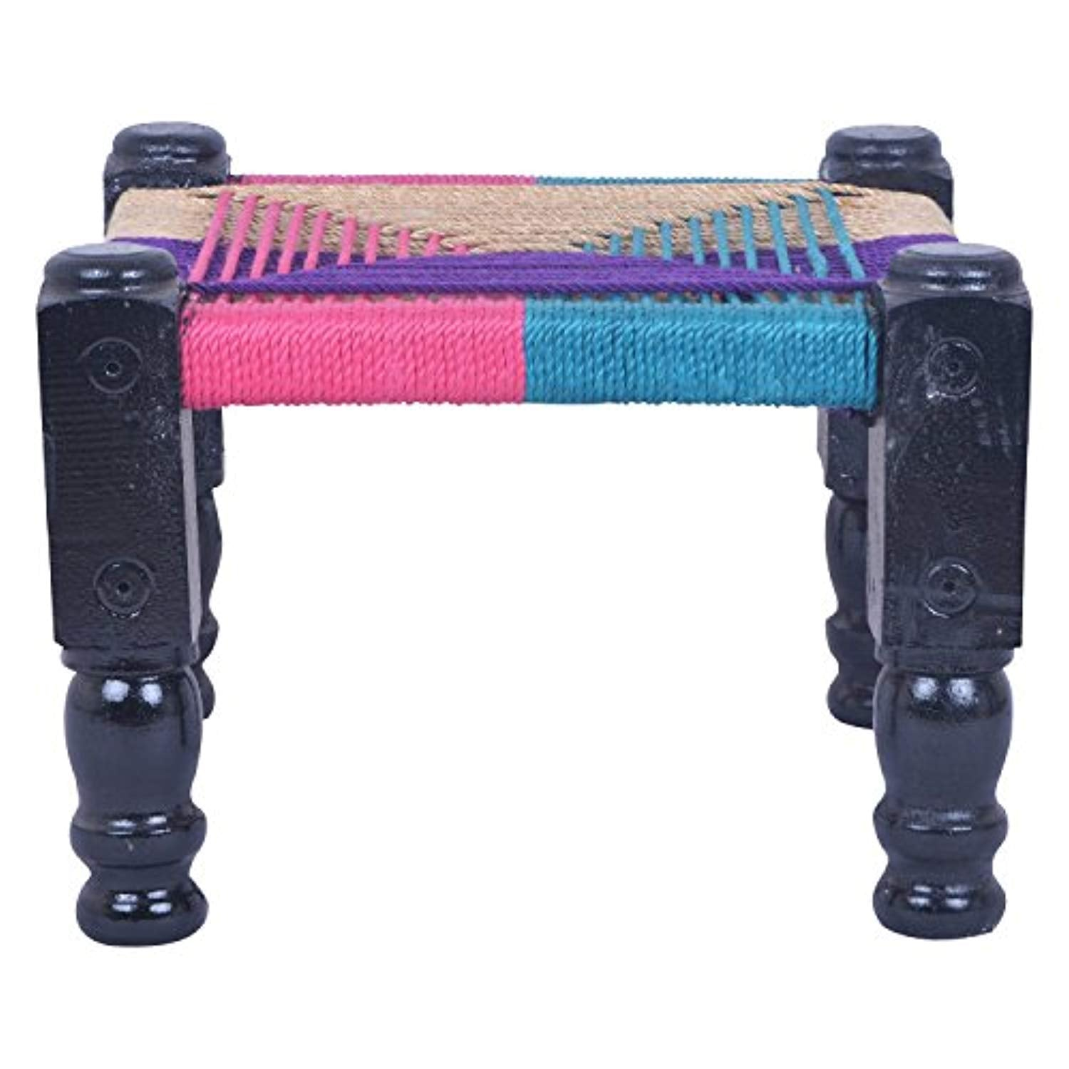 Chowki Khatli Chair Stool Bajot - Multicolor Garden or Balcony Chair - IRA Furniture