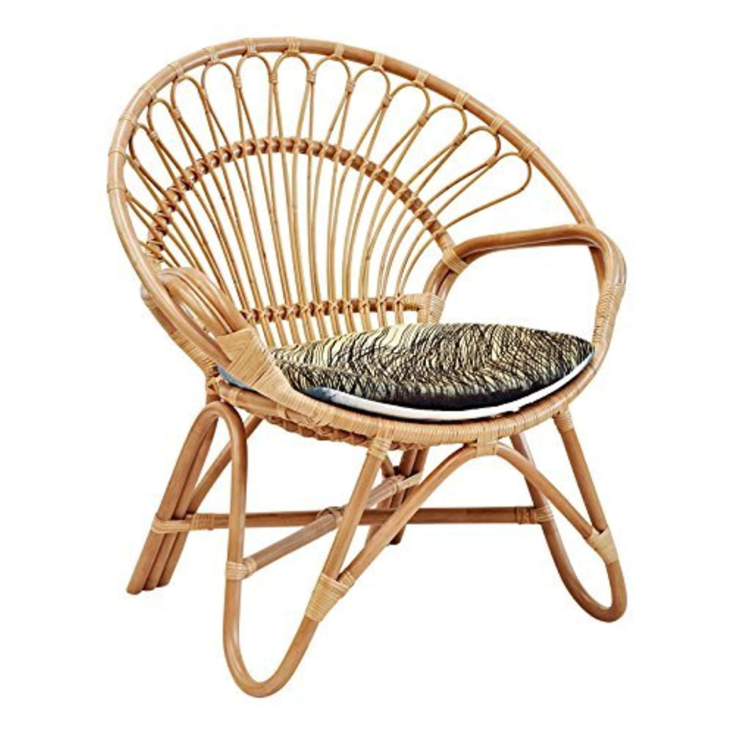 IRA Garden Cane Cushioned Chair With Cushion - IRA Furniture