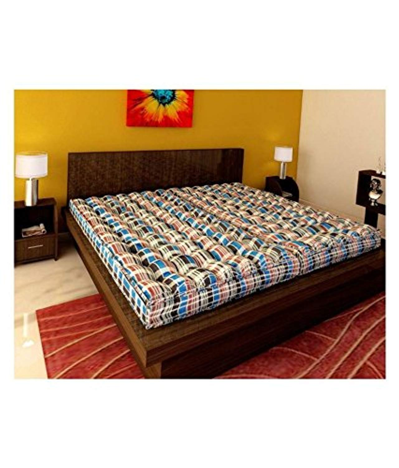 IRA Double Bed Soft cotton Mattress gadda(4 Inch) - IRA Furniture