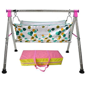 IRA Quick Set Up New Born Baby Sleep Swing Cradle - Multi Color - IRA Furniture