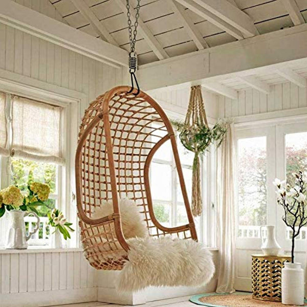 IRA Dario Rattan Wicker Hanging Chair (Beige) - IRA Furniture