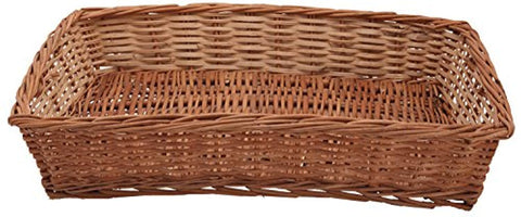 IRA Bamboo Cane Basket Tray, 48x33x13cm (Brown) - IRA Furniture