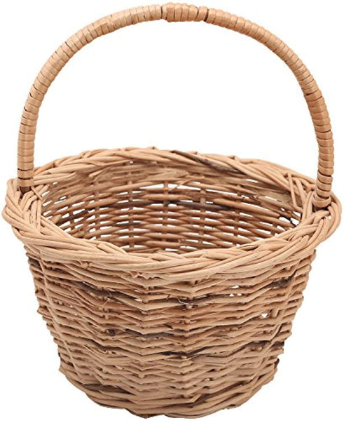 IRA Bamboo Cane Basket (24x24x25cm, Brown) - IRA Furniture