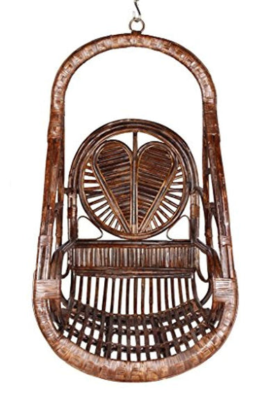 IRA Rattan Swing Chair With Patterned Heart - IRA Furniture
