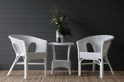 IRA Cape White Wicker 3 Pc Set - IRA Furniture