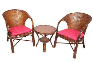 IRA Wicker Arm Chair with Table and Cushion - IRA Furniture