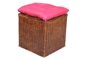 IRA Wicker Square Pouffe(Stool) - IRA Furniture