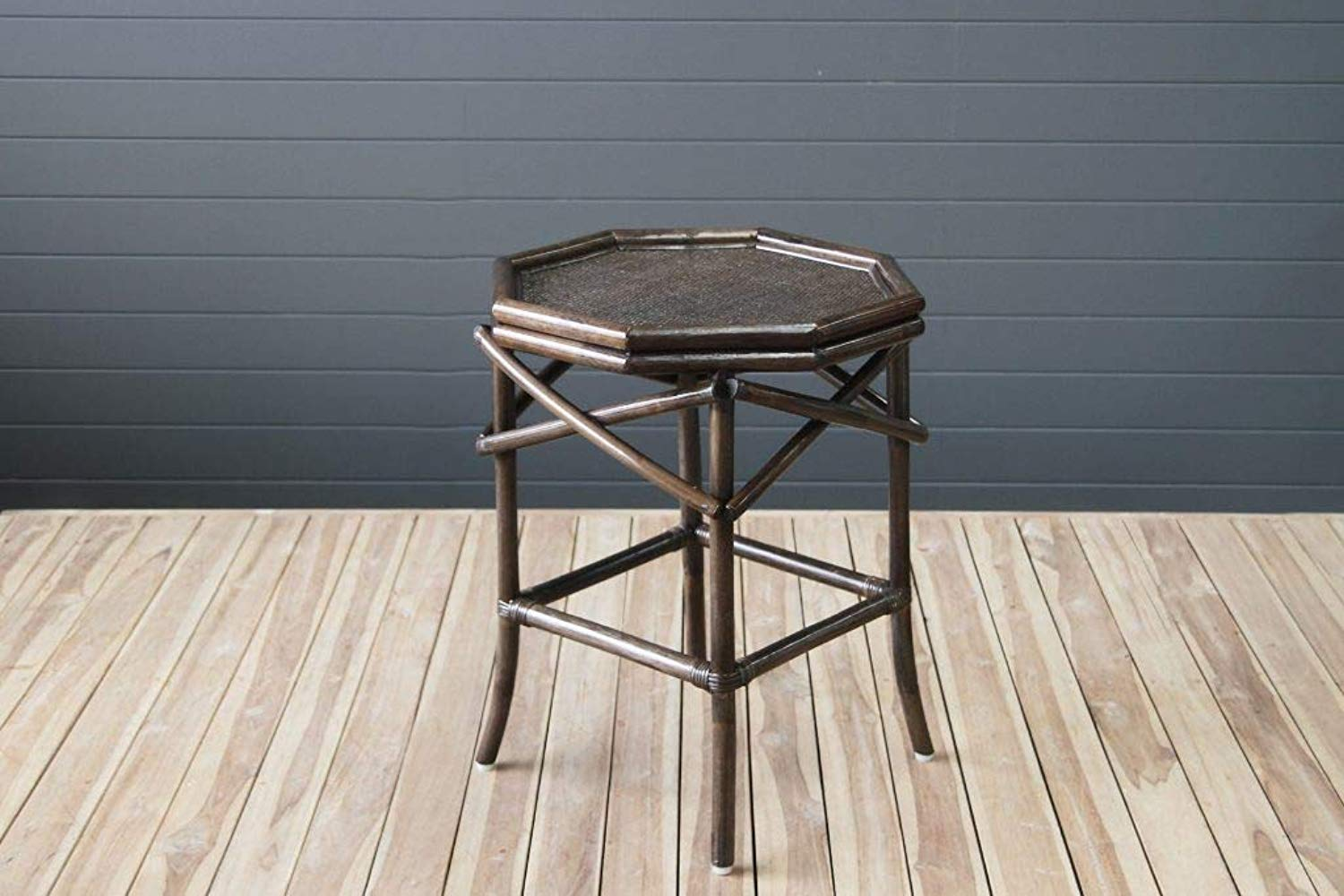 IRA Cancun Octagonal Side Table – Burnt Sienna - IRA Furniture
