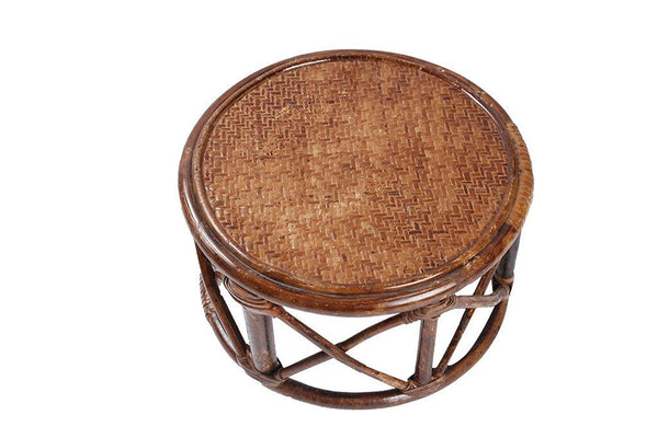 IRA Rattan and Wicker Encircled Pouffe (Mudah) - IRA Furniture