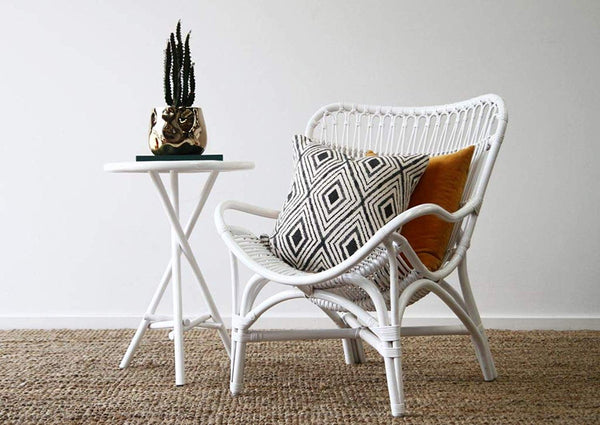 IRA Butterfly Armchair – White - IRA Furniture