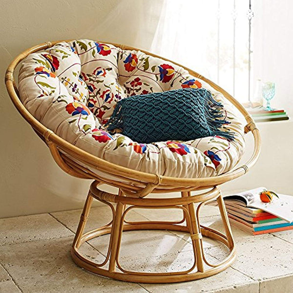 IRA Cane Papasan Comfortable Chair With Cushion - Folding - IRA Furniture