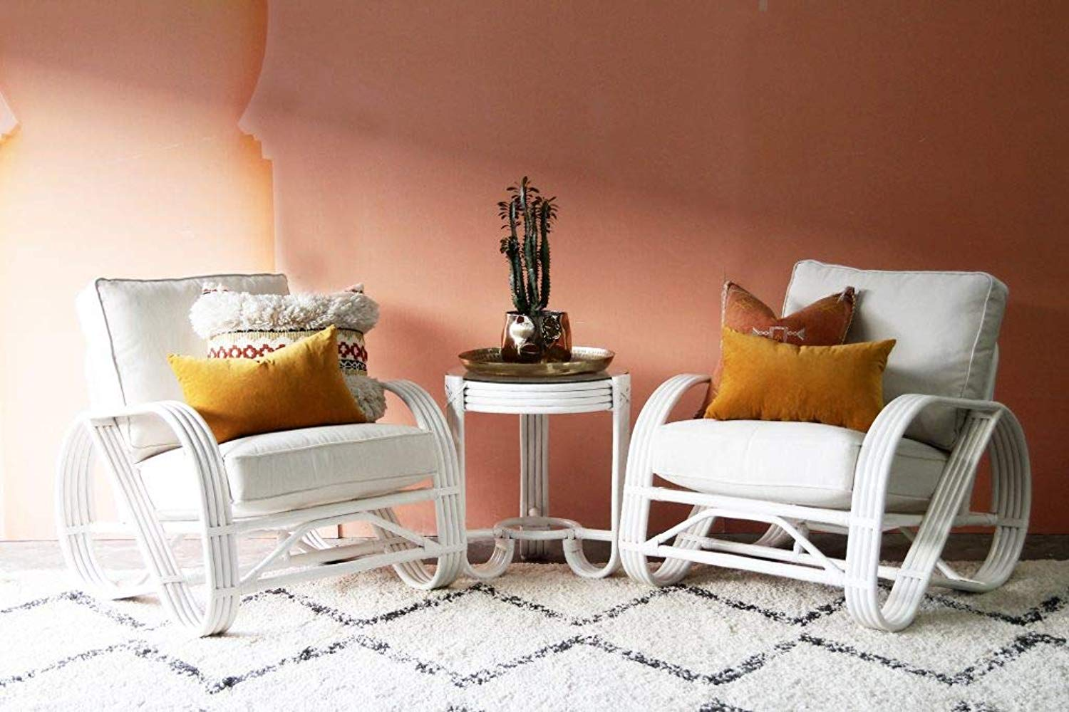 IRA White Armchair Side Table Combo - IRA Furniture