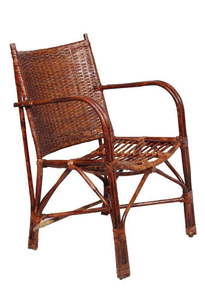 IRA Wicker Contemporary Styled Arm Chair with Cushion - IRA Furniture