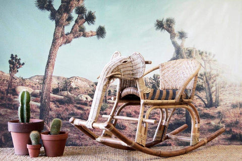 IRA Kid's Rocking Elephant - Natural - IRA Furniture