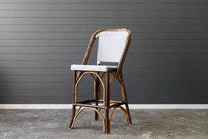 IRA Barstool Kitchen Stool- Brown Polish - IRA Furniture