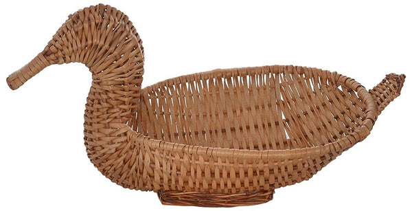 IRA Duck Cane Basket (39 cm x 19 cm x 21 cm, Brown) - IRA Furniture