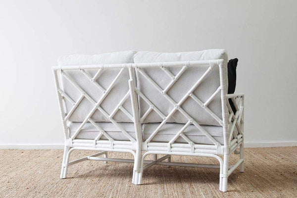 IRA 2 Seater White Sofa for Bedroom - IRA Furniture
