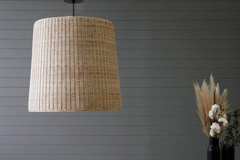 IRA Rattan Bell Pendant Light Shade – Large - IRA Furniture