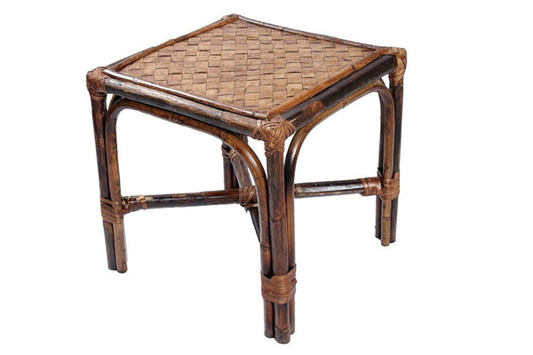 IRA Rattan and Wicker Square Pouffe (Mudah) - IRA Furniture