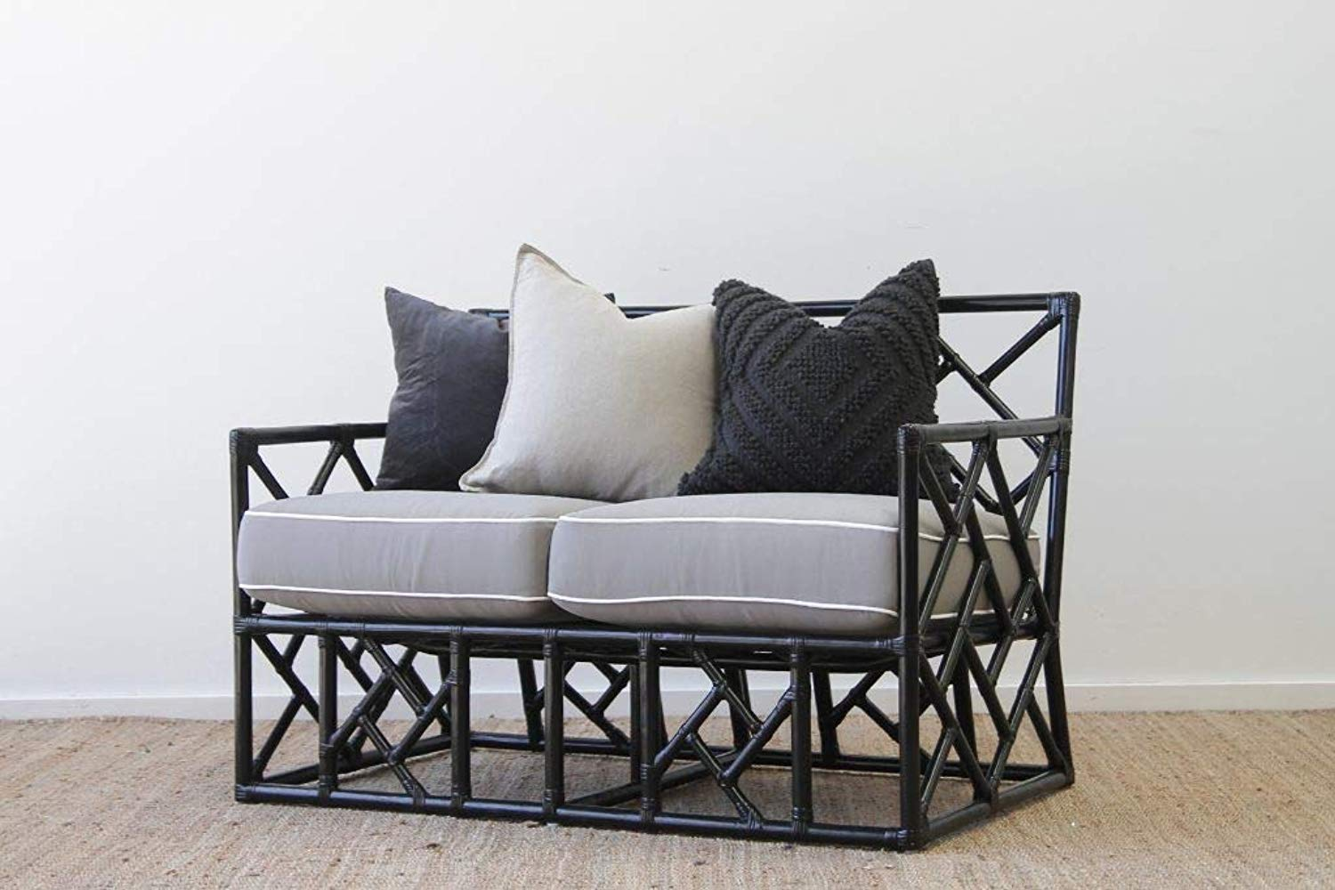 IRA 2 Seater Black sofa set Day Bed - IRA Furniture