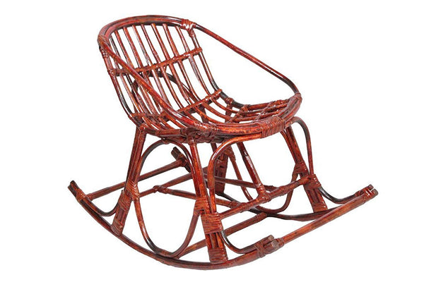 IRA Contemporary Rattan Rocking Arm Chair with Cushion (Compact Size). - IRA Furniture