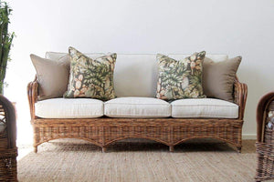 IRA 3 Seater Wicker Natural Chairs - IRA Furniture