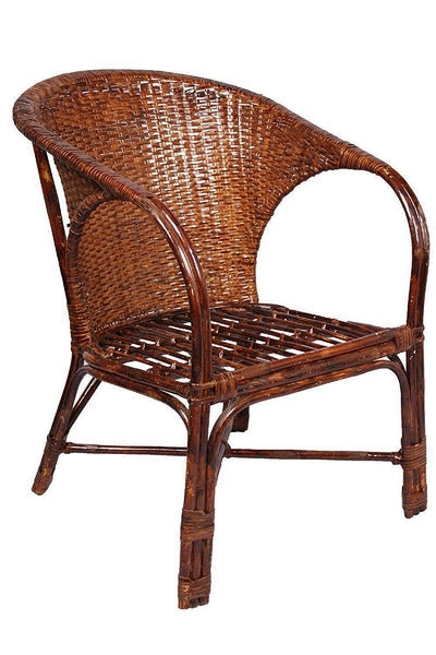 IRA Elegant Wicker Arm Chair with Cushion - IRA Furniture