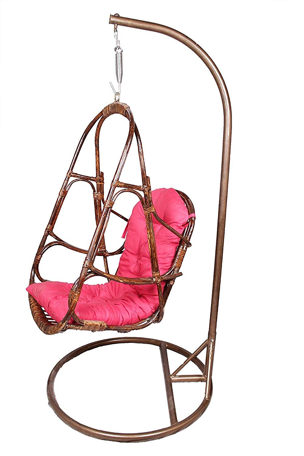 IRA Metal Stand With Cane Rattan Swing And Cushion - IRA Furniture