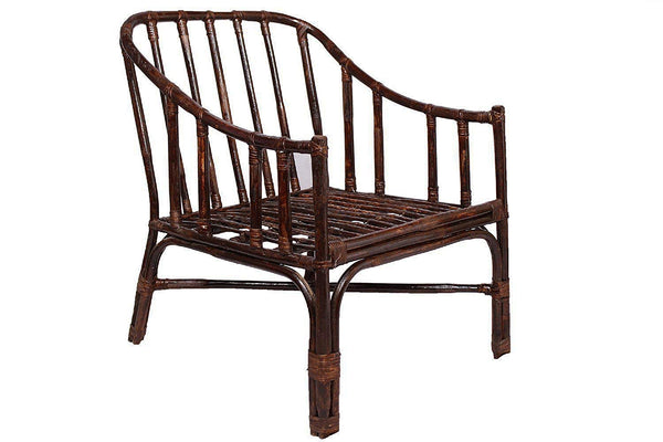 Ira Brown Chair Made of Cane Wood with Cushion - IRA Furniture
