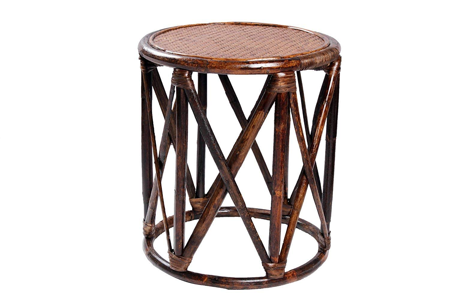 IRA Rattan and Wicker Round pouffe/Stool (Mudah) - IRA Furniture