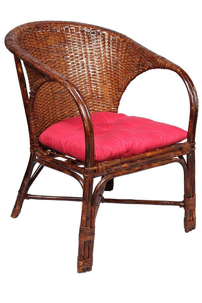 IRA Rattan and Wicker Chair, Standard Size, Brown - IRA Furniture