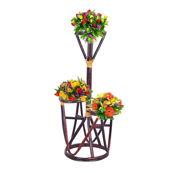 IRA Flower Stand for 3 Garden Pots - IRA Furniture