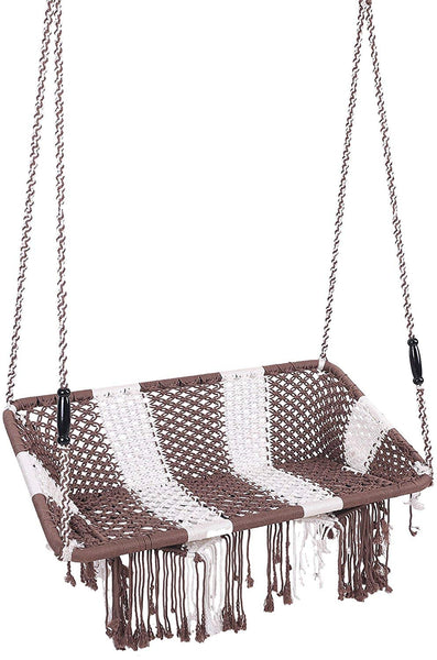 IRA Silk Rope Handweaved 2 Seater Swing (Grey) - IRA Furniture