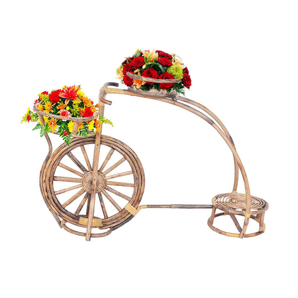 IRA Bicycle Flower Pot Stand for 3 Pots Garden Decor - IRA Furniture