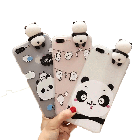 Coque Panda iPhone <br> Figurine 3D - Royaume Panda